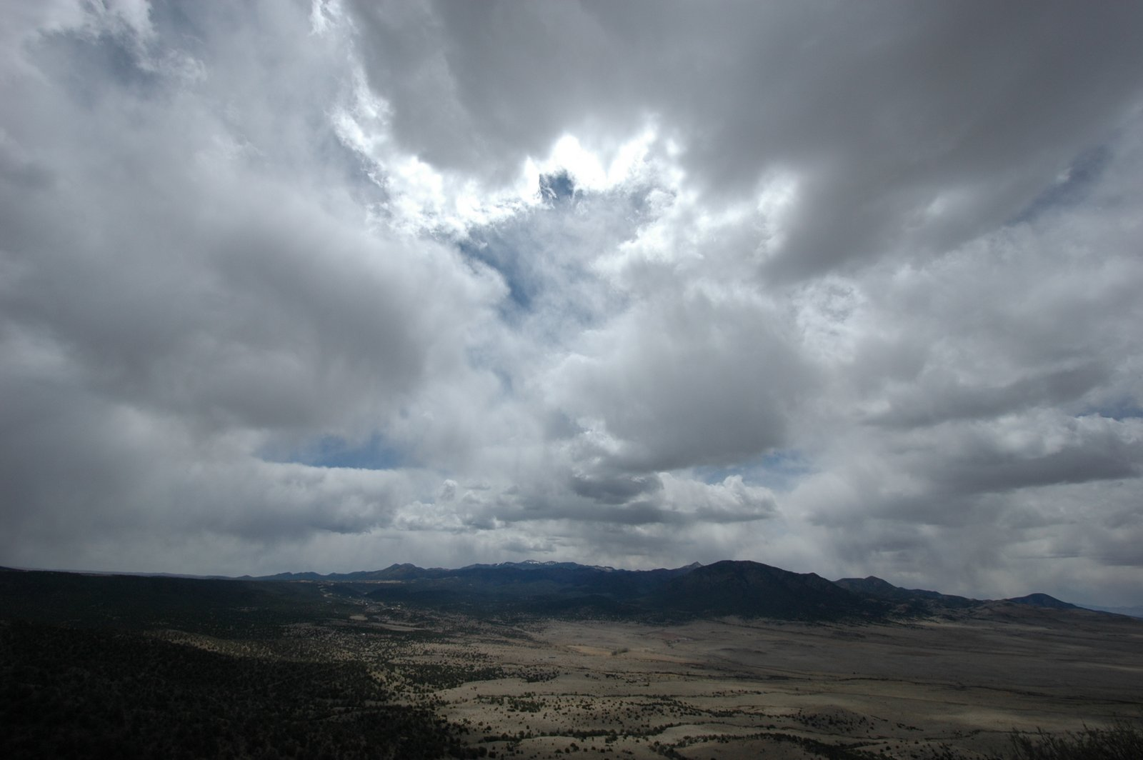 Clouds over Sierra Blanca