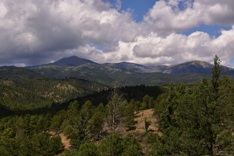 Sierra Blanca from the Cedar Creek Trail