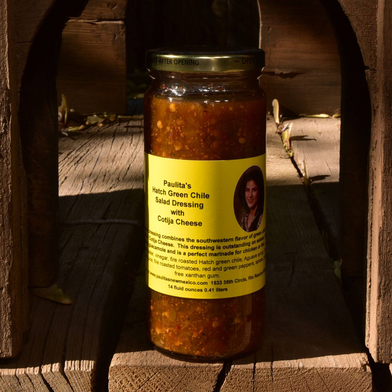 Paulita's Hatch Green Chile Salad Dressing with Cotija Cheese