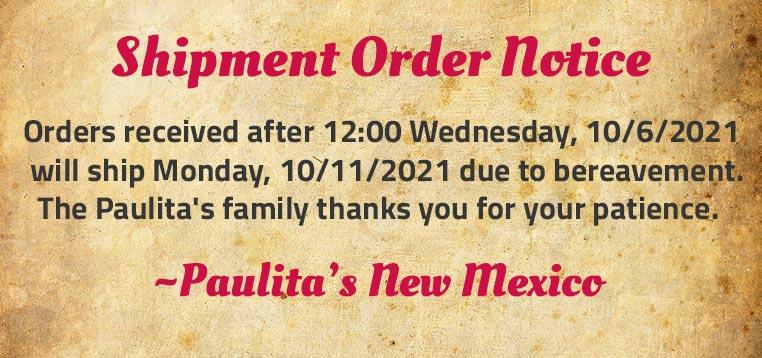 Order Shipment Notice